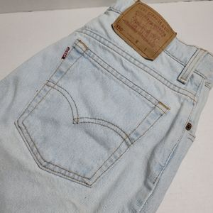 Vintage Levis 550 Relax Light Wash Jean Shorts USA